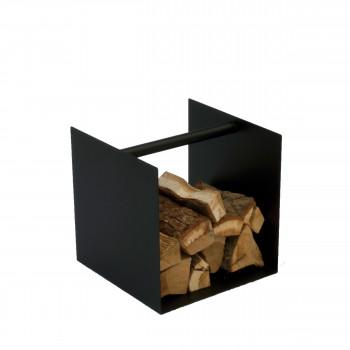 Range bûches carré en acier Box
