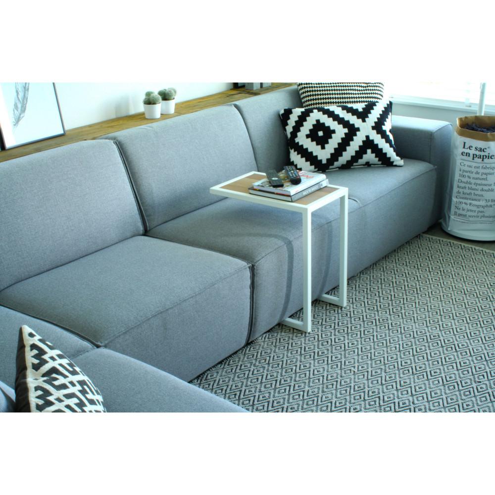 table d 39 appoint style industriel divani drawer. Black Bedroom Furniture Sets. Home Design Ideas