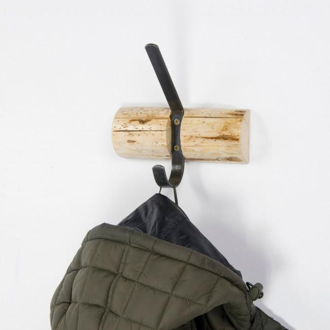 Porte manteau mural 1 crochet bois Forest