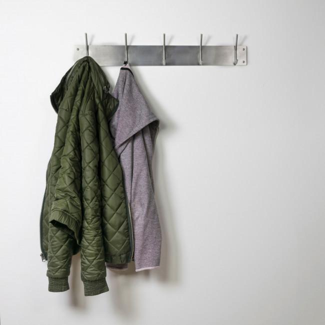 Porte manteau 5 crochets acier Fusion