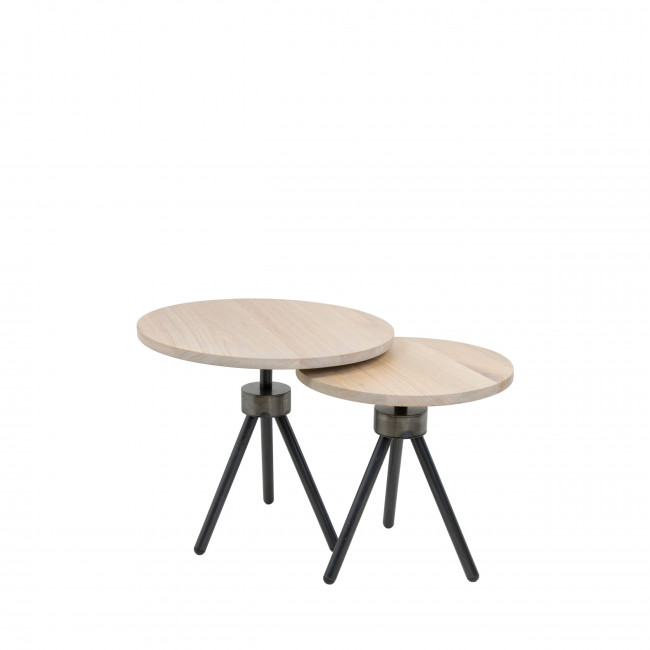 Table d'appoint industrielle ø50cm Anna