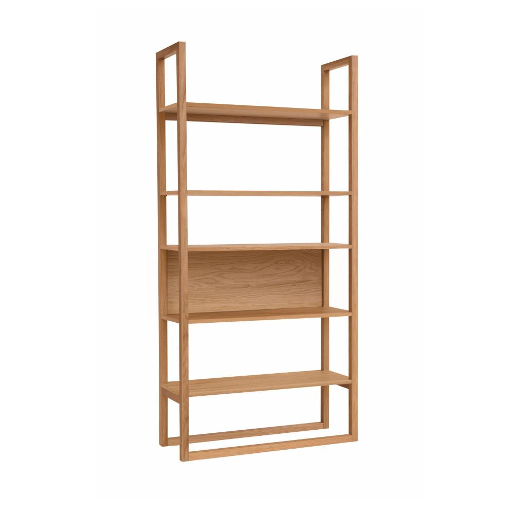 biblioth que design en bois newest drawer. Black Bedroom Furniture Sets. Home Design Ideas