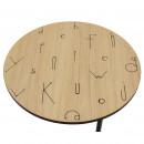 Table basse à motifs lettres ø70cm Arty