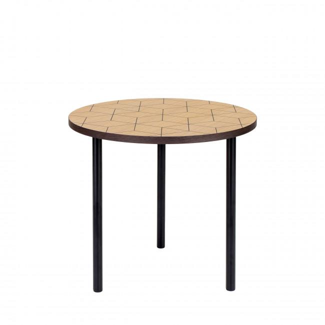 Table basse à motifs géométriques ø50cm Arty