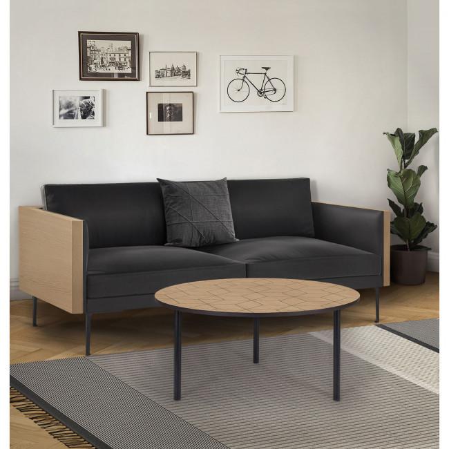 Table basse à motifs géométriques ø70cm Arty