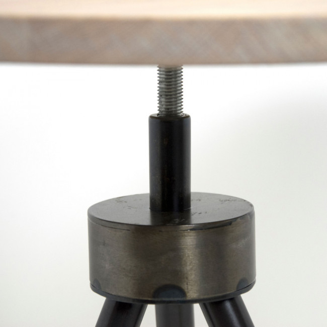 Table d'appoint industrielle ø40cm Anna