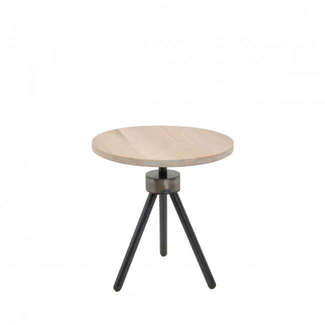 Table d'appoint industrielle ø40cm Anna
