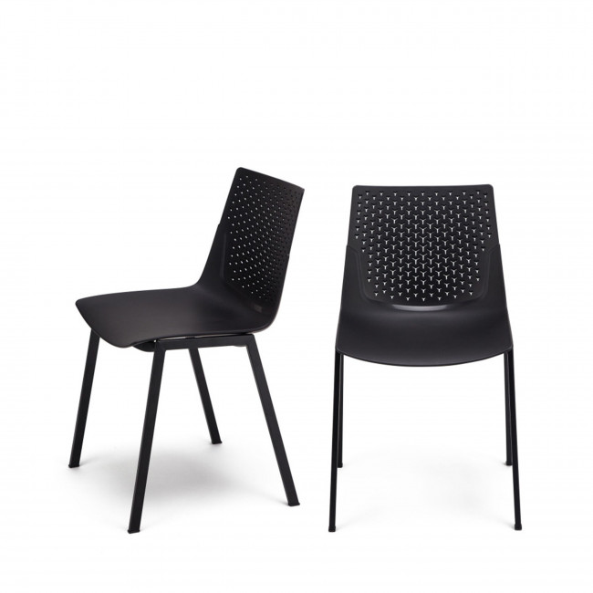 Lot de 2 chaises design Piper