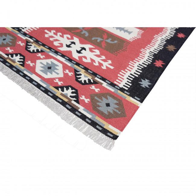 Tapis kilim en laine & coton tissé main Nael