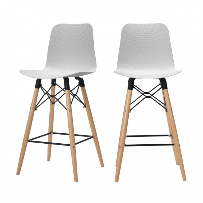 Lot de 2 tabourets de bar 68cm Cobbler