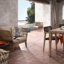 Lot de 2 fauteuils de jardin vintage bois et corde Belleny