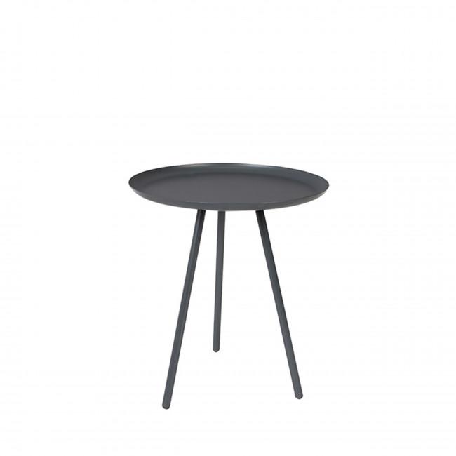 Table d'appoint en métal laqué noir Frost