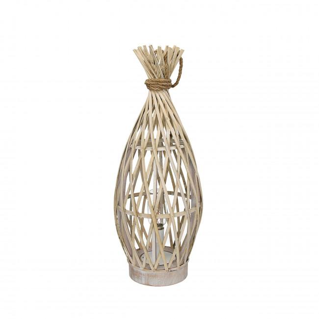 Lampe à poser en bambou et corde M Irene