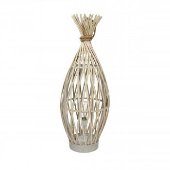 Lampe à poser en bambou et corde L Irene