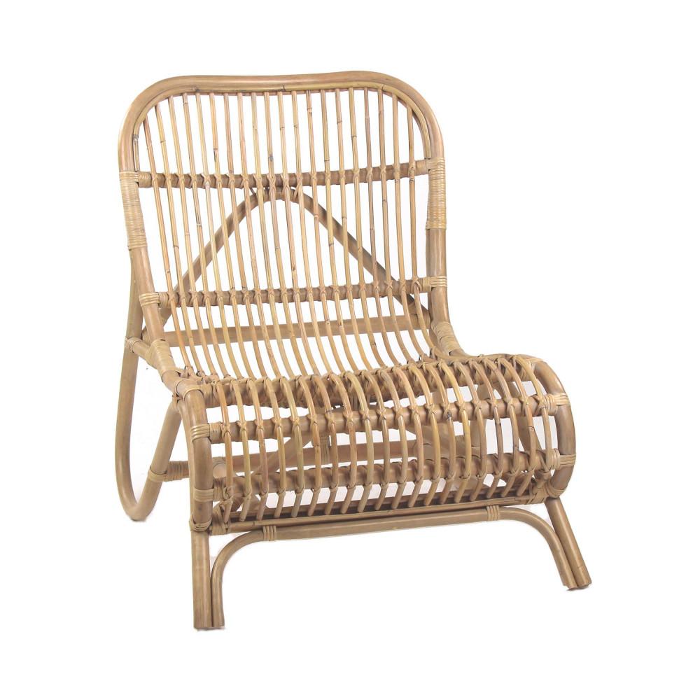 fauteuil lounge en bambou kim - Fauteuil Bambou