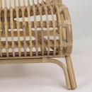 Fauteuil lounge en bambou Kim