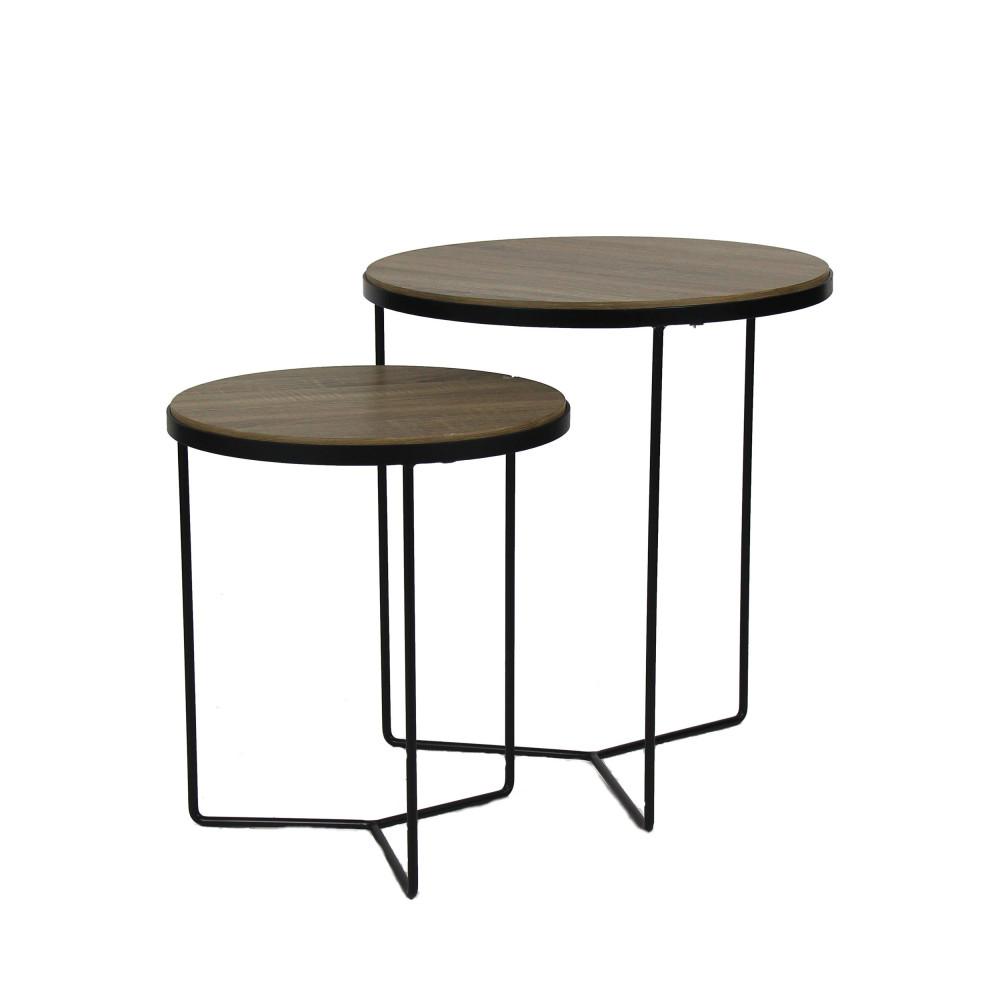 lot de 2 tables d 39 appoint miso pomax drawer. Black Bedroom Furniture Sets. Home Design Ideas