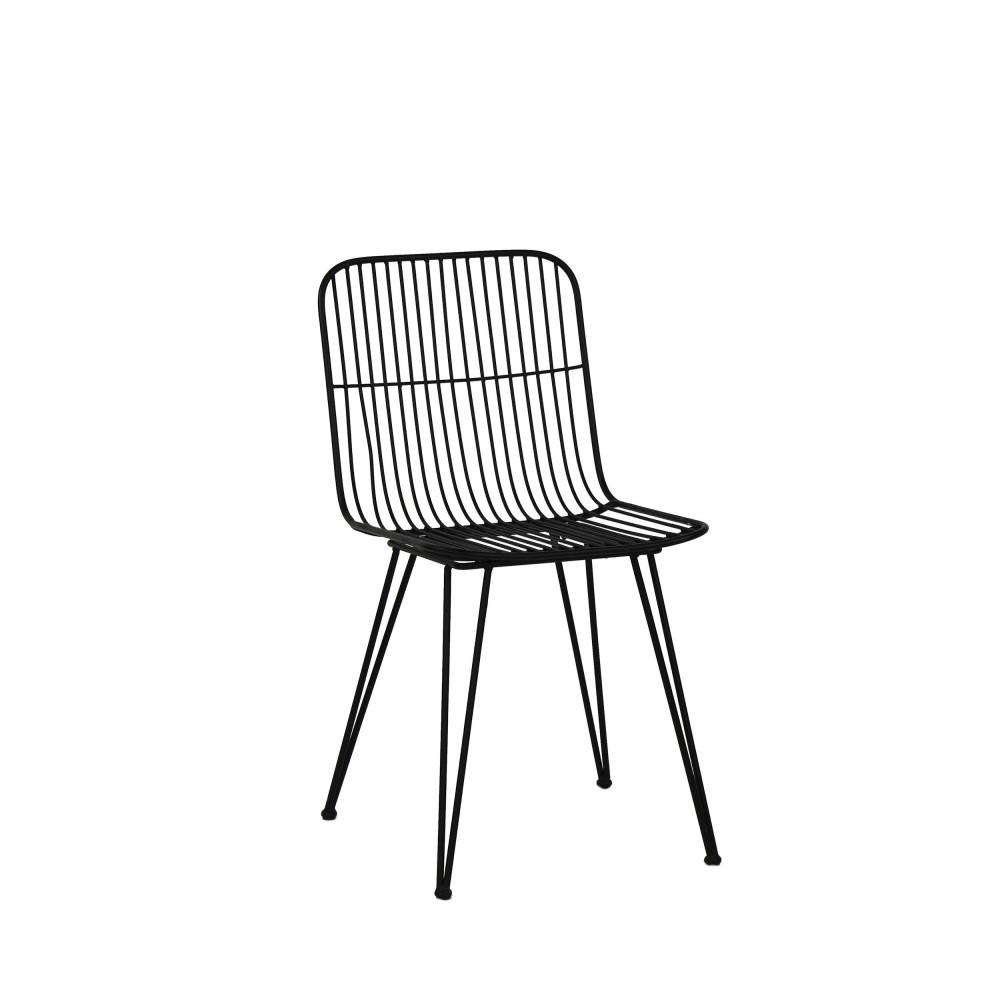 2 chaises design en metal pomax ombra
