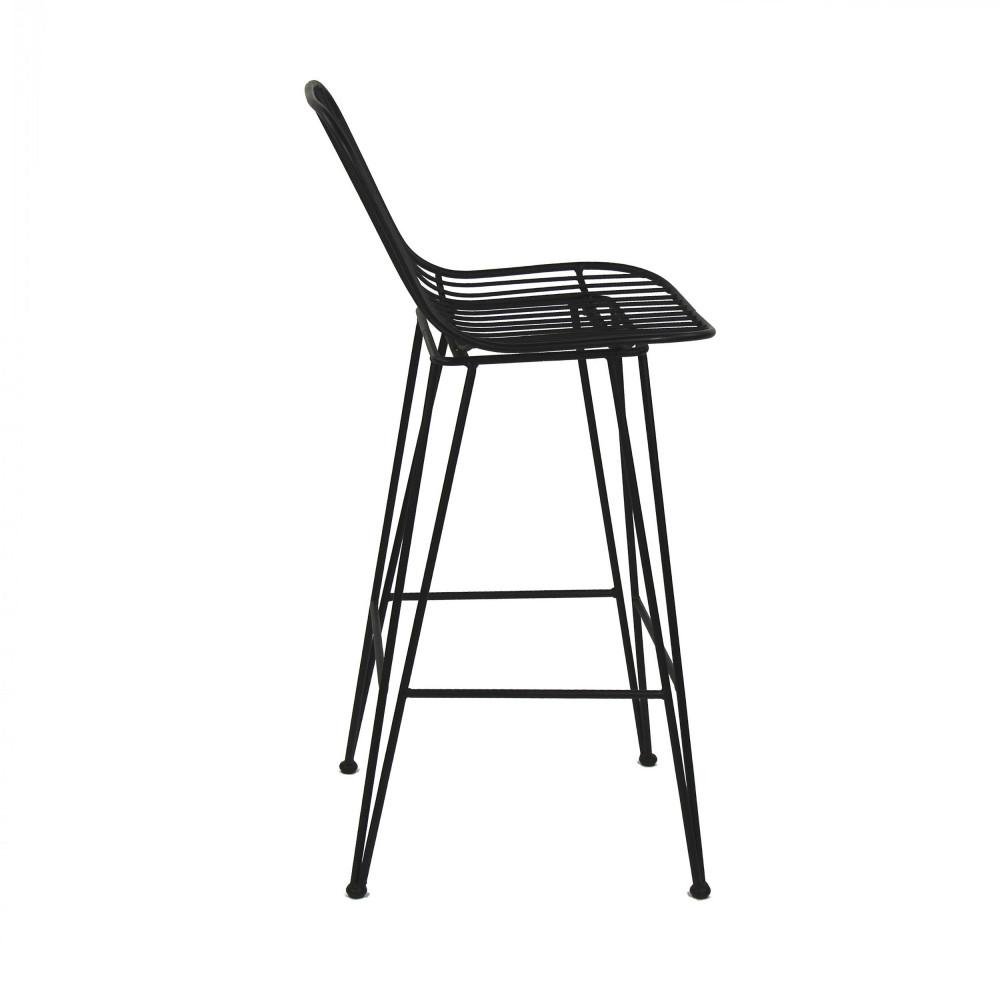 chaise de bar design en m tal 67cm ombra pomax drawer. Black Bedroom Furniture Sets. Home Design Ideas
