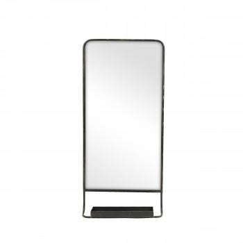 Miroir avec tablette en métal Serigraphic