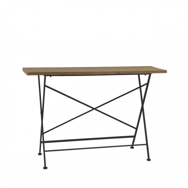 Console pliable en métal et bois Structure