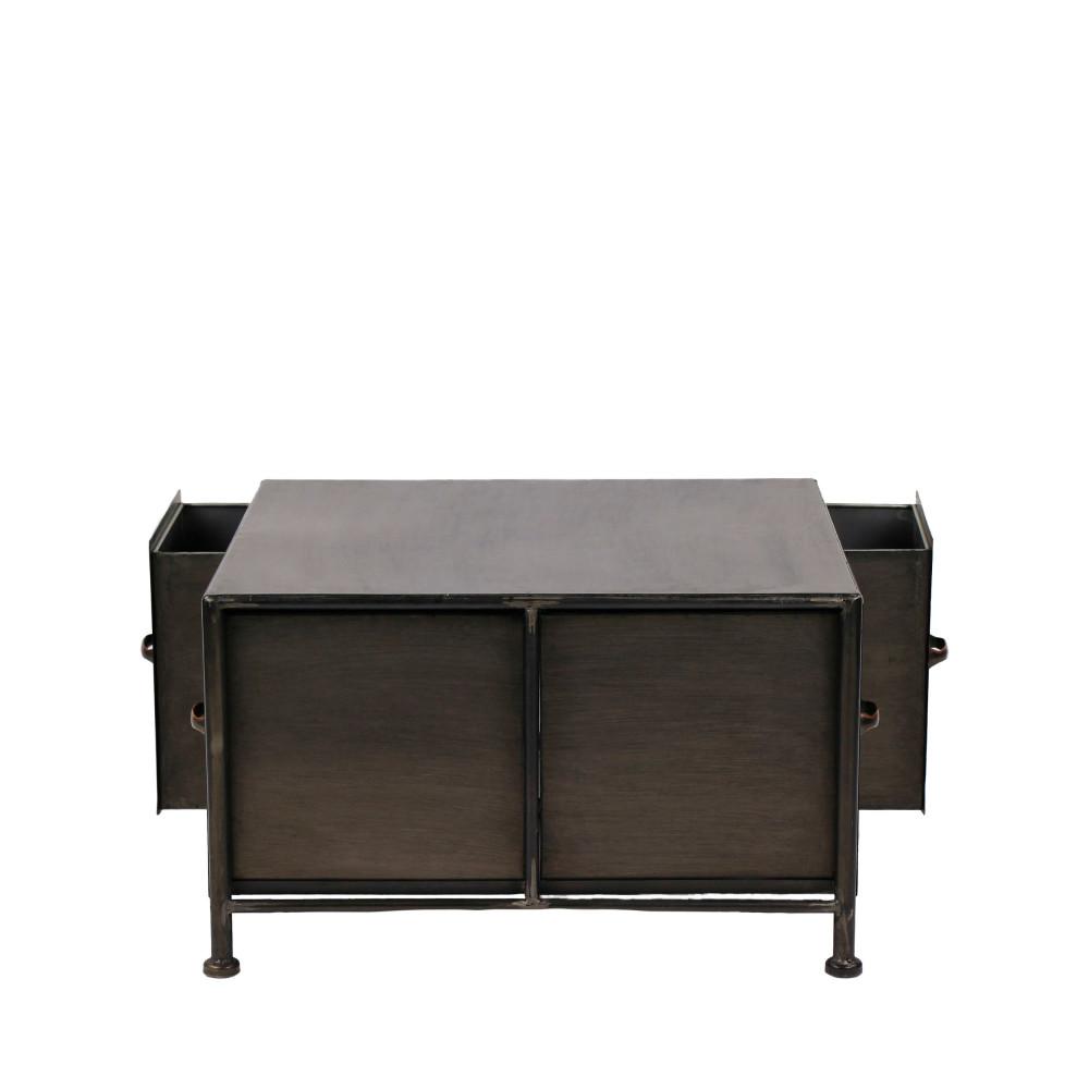table basse en fer typographic pomax drawer. Black Bedroom Furniture Sets. Home Design Ideas