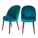 Lot de 2 chaises en velours Barbara Dutchbone