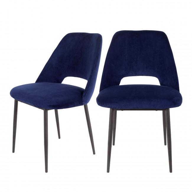 Lot de 2 chaises en velours Cinderella