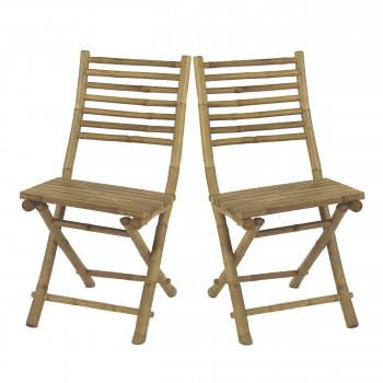 Lot de 2 chaises en bambou Cây Tre