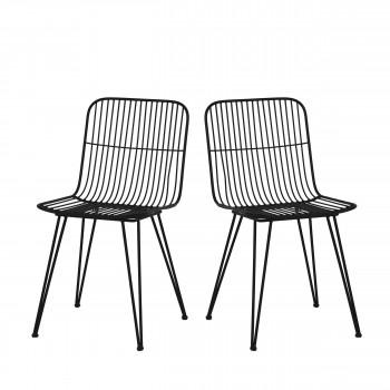 Lot de 2 chaises design en métal Ombra