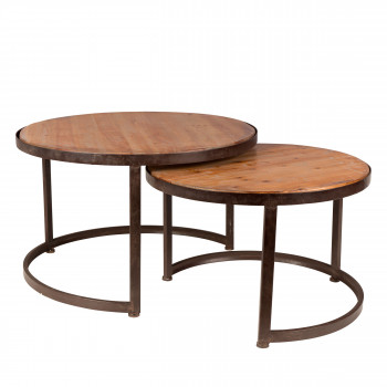 Lot de 2 tables basses vintage Jack