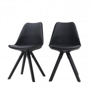 Lot de 2 chaises pieds noirs Ormond Wood