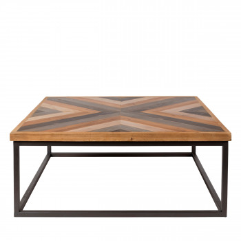 Table basse design carré 81x81cm Joy