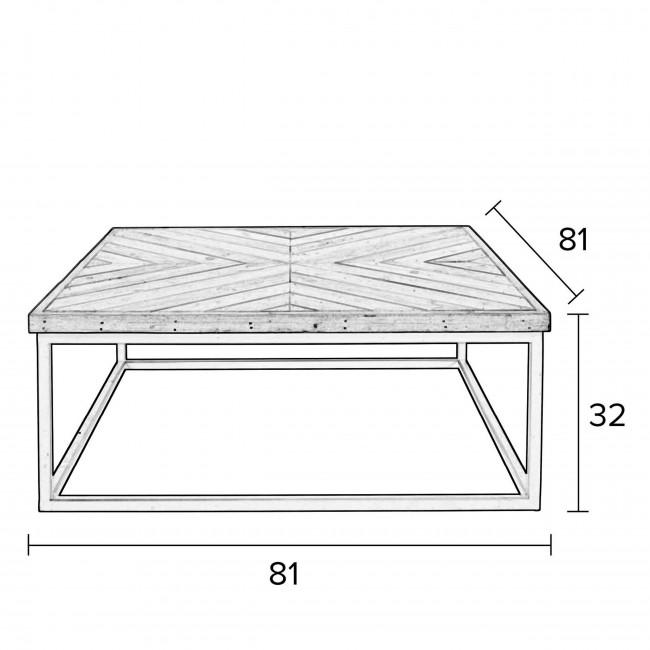 Table basse design carré 81x81cm Joy