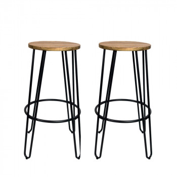 Lot de 2 tabourets de bar 75cm Scoop RedCartel