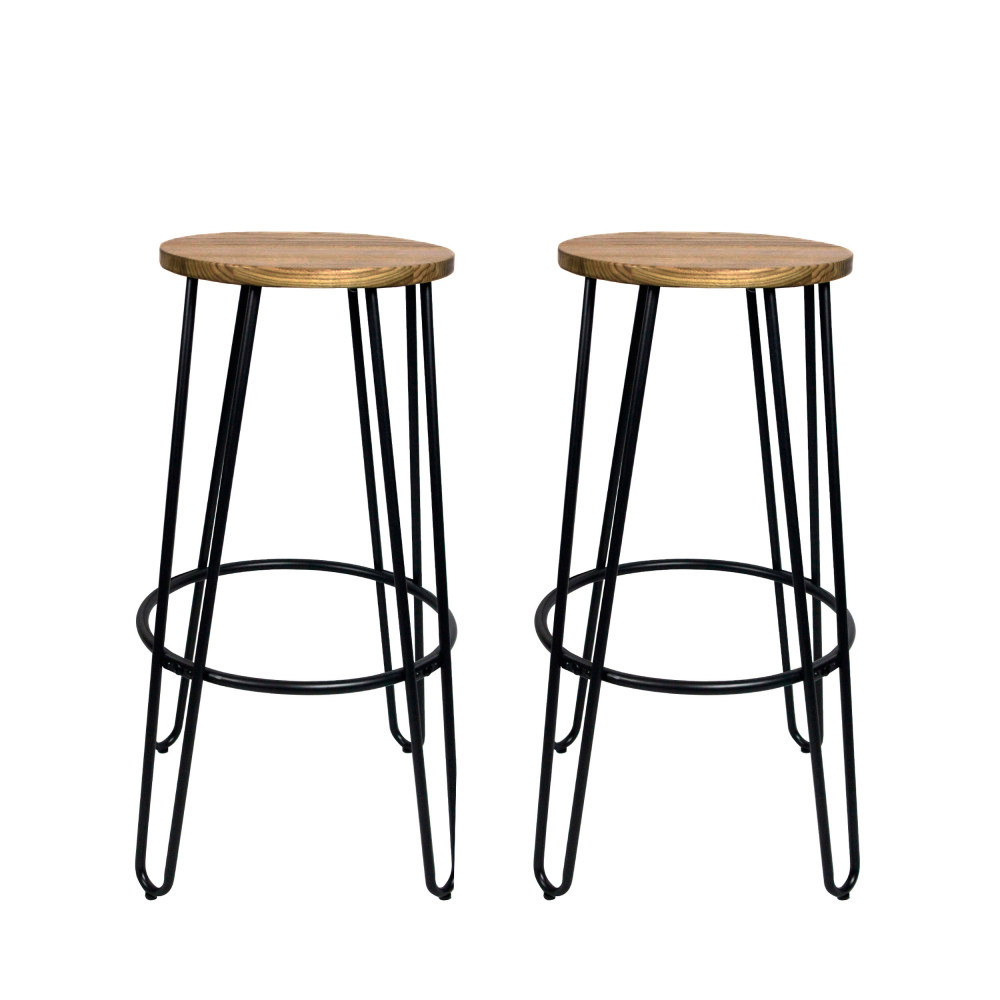 lot de 2 tabourets de bar 75cm scoop redcartel drawer. Black Bedroom Furniture Sets. Home Design Ideas