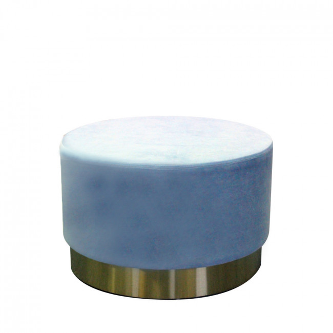 Pouf rond velours Cosy RedCartel