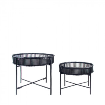 Lot de 2 tables d'appoint rotin Batanga RedCartel