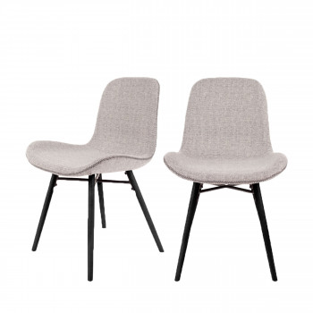 Lot de 2 chaises design Lester