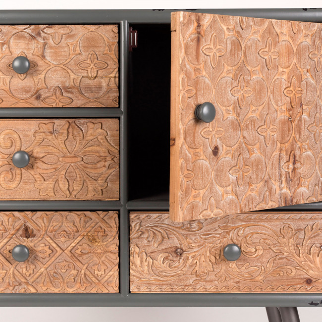 Buffet design en bois et métal Chip