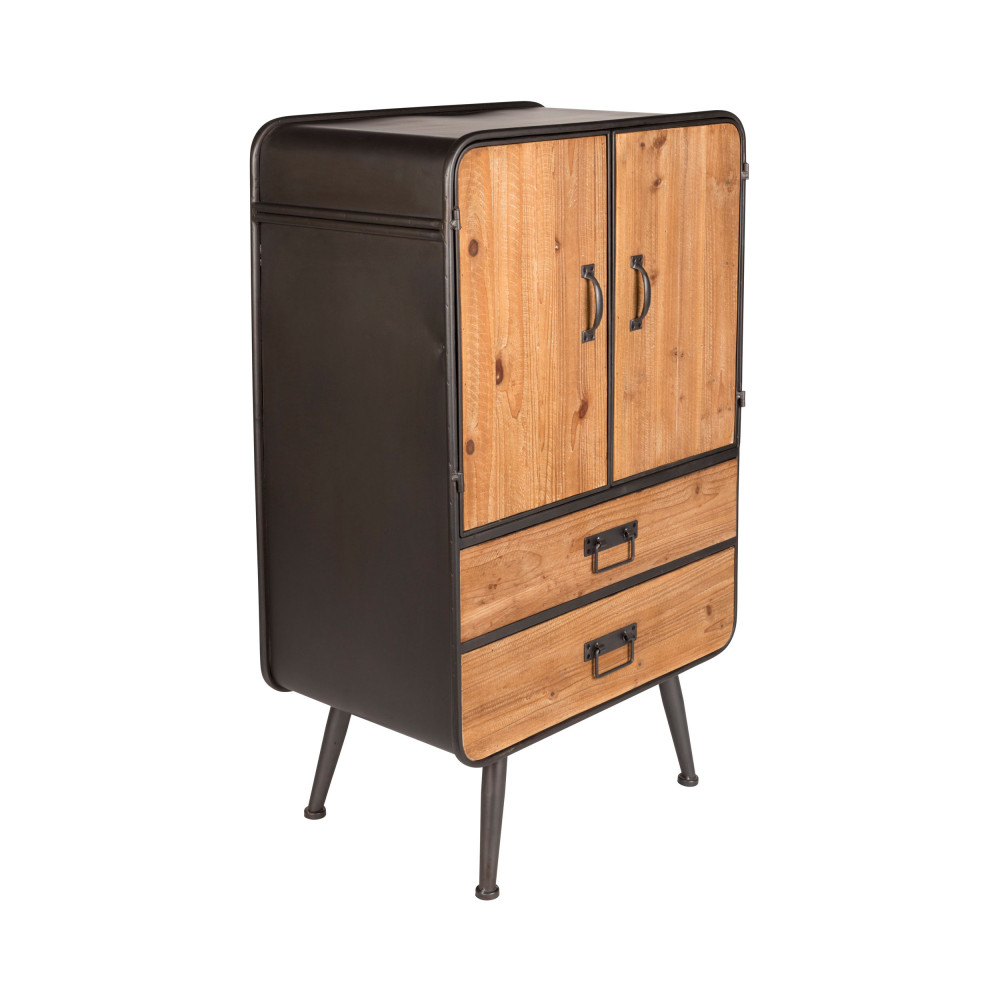 buffet haut vintage bois et m tal gin dutchbone drawer. Black Bedroom Furniture Sets. Home Design Ideas