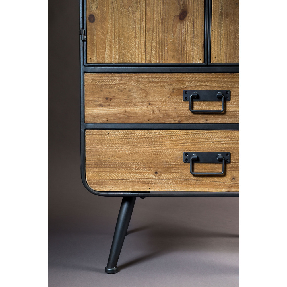 buffet haut vintage bois et métal gin dutchbone - drawer