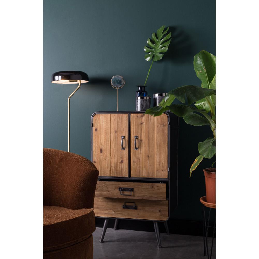 buffet haut vintage bois et m tal gin dutchbone drawer. Black Bedroom Furniture Sets. Home Design Ideas
