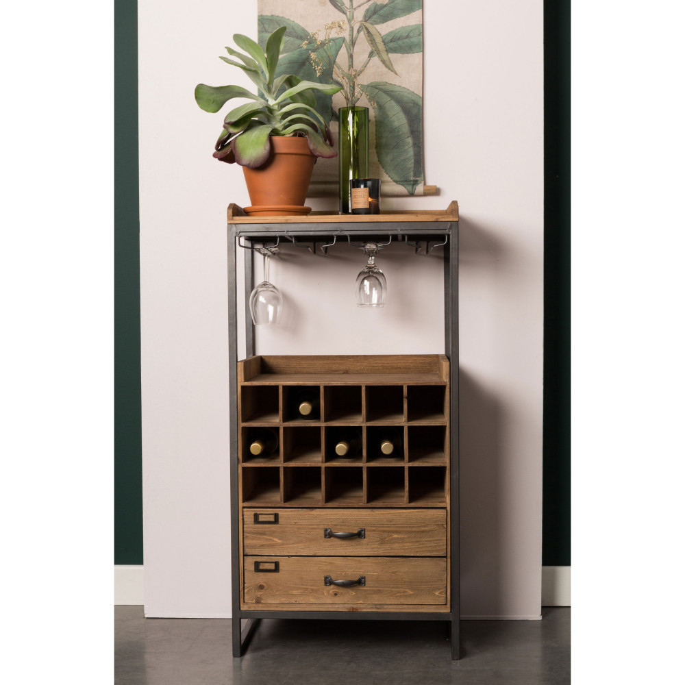 armoire bar vin vintage edgar drawer. Black Bedroom Furniture Sets. Home Design Ideas