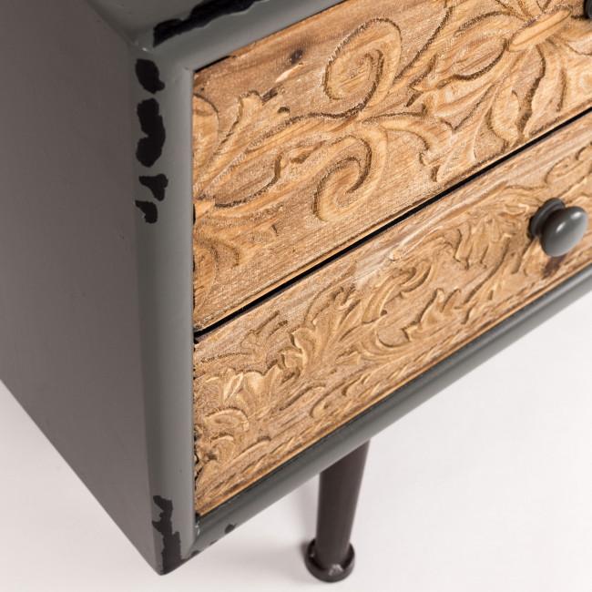 Buffet vintage en bois et métal Chip