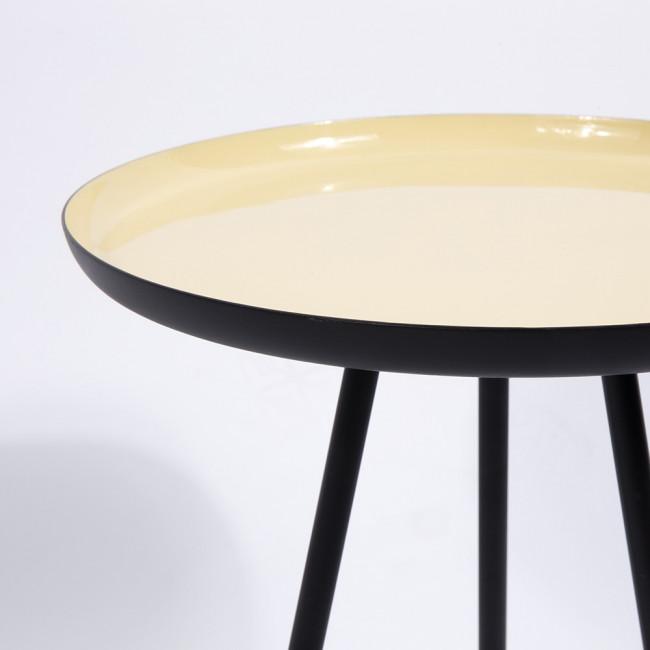 Lot de 3 tables basses rétro émaillées Enamel couleurs pastel