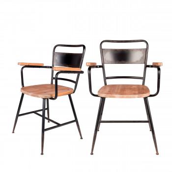 Lot de 2 chaises vintage Gene