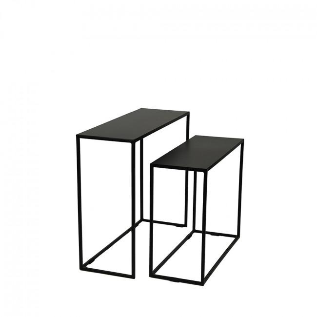 Lot de 2 tables gigognes en métal New Simple Pomax
