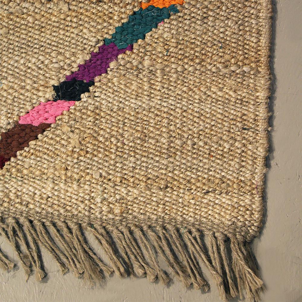 tapis en jute et coton mysore pomax - Tapis Jute