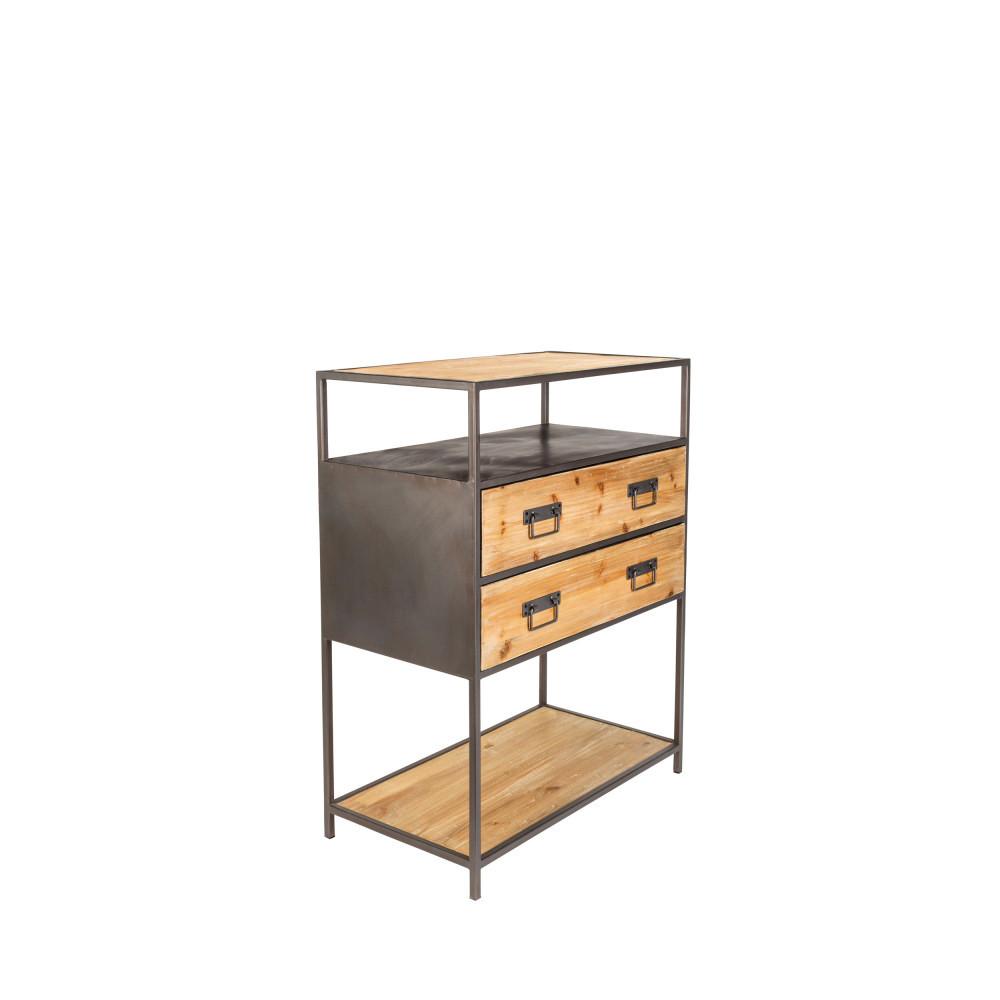 console design en bois et m tal samuel drawer. Black Bedroom Furniture Sets. Home Design Ideas
